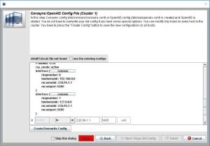 LCMC Corosync Config finish