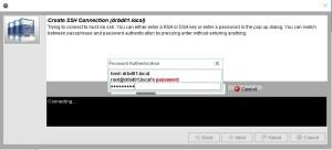 LCMC Passwort eingabe